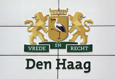 Stork city of the hague Royalty Free Stock Photos