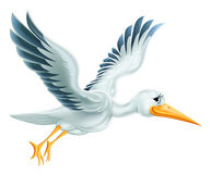 Stork Flying Cartoon Royalty Free Stock Photos