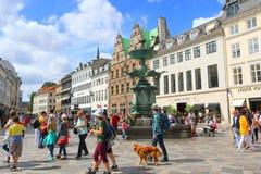 Free Stork Fountain On Amagertorv Copenhagen Denmark Stock Photo - 167190160