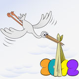 Stork and New Year Stock Photography