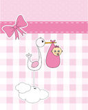 Stork with newborn baby Royalty Free Stock Image