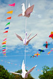 Stork origami paper Royalty Free Stock Image