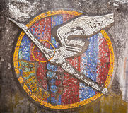 Stork shaped mosaic tile Stock Photography