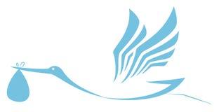 Stork som levererar symbolen vektor illustrationer