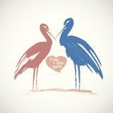 Stork symbol. Stock Photo