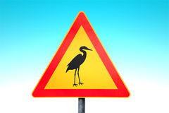 Stork Traffic Sign Royalty Free Stock Image