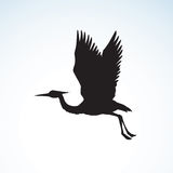 Stork. Vector drawing Stock Images
