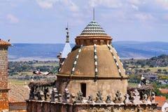 Storks in a Church dome in Trujillo Royalty Free Stock Image