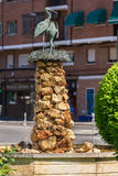 Storks monument in Alcalá de Henares Royalty Free Stock Image