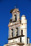 Storks nesting on bell tower, Ecija, Spain. Stock Image