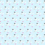 Storks Seamless Pattern, Illustration. Storks on white background. Great for placing under the children products, baby shower parties and more Stock Photos