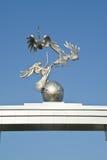 Storks. Symbol of peaceful politics of republic of Uzbekistan Stock Photos