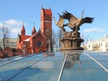 Storkskulptur Royaltyfri Bild