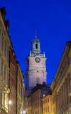 Storkyrkan,老镇,斯德哥尔摩,瑞典 免版税库存照片