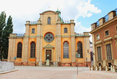 Storkyrkan - Cathedral of St Nicholas, Stockholm royalty free stock photos