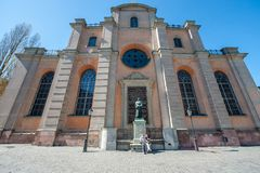 Storkyrkan - the cathedral of Stockholm Stock Photos