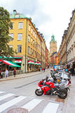 Storkyrkobrinken street in Gamla Stan, Stockholm Royalty Free Stock Photography