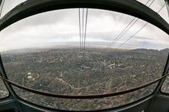 Storm över Albuquerque Arkivfoto