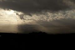Storm över den Baildon heden, Yorkshire arkivbilder