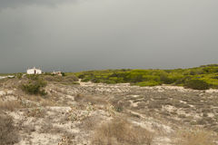 Storm över dyerna Arkivfoton
