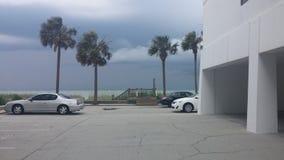 Storm över hav Royaltyfri Foto
