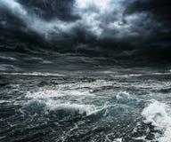 Storm över havet Royaltyfri Fotografi