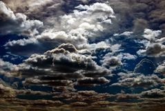 Storm. Dramatic hazardous atmosphere close up stormy clouds Royalty Free Stock Image