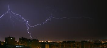 Storm. In the city. Barcelona royalty free stock photos