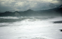 Storm. Turkey coast (Mediterranean sea) in storm Stock Photography