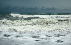 Storm. Turkey coast (Mediterranean sea) in storm Royalty Free Stock Images