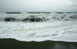 Storm. Turkey coast (Mediterranean sea) in storm Royalty Free Stock Photography