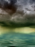 Storm. Hanging over the sea Stock Photography