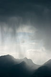 Storm. Heavy storm over the mountains Royalty Free Stock Image