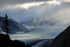 Storm. Coming from the glacier, Salmon Glacier, Alaska Stock Images