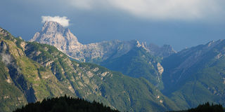 Mountain after storm. A storm on the Dolomites mountains, Cadore, Italy Stock Image