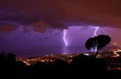 Storm. In the coast of Barcelona, Spain Royalty Free Stock Photos