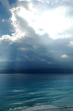 Before the storm. Beach in mexico, storm and rain is coming Stock Photo