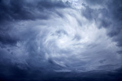 Storm. The gloomy dark stormy sky with clouds Royalty Free Stock Photo