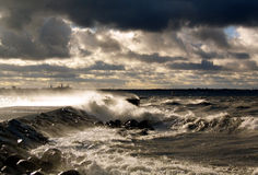 Storm in Tallinn, Estonia stock photography