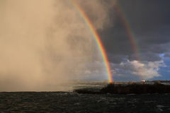 After the storm. Niagara after a short storm royalty free stock images