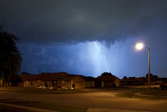 Storm. Rain, Lightning and thunder in Central Florida Stock Image