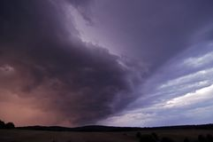 Before storm. Shot of a cumulonimbus (thunderclouds stock photography