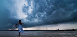 Before the storm. Filmed in China Jiangsu province Nanjing city along the Yangtze River Royalty Free Stock Photography