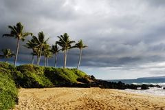 Before the storm. Maui beach before the storm Stock Images