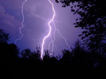 Storm. High lightning nature storm  thunder Royalty Free Stock Photography