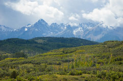 Storm. Landscape showing storm clouds over the San Juan Mountains in late summer Royalty Free Stock Photography