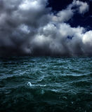 Storm. Grim fantastic landscape with a storm Royalty Free Stock Image