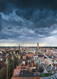 Before a storm. View on Wrocław (Poland) just before a storm Stock Images