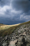 Before the storm. A walk in Bieszczady (Poland) just before the storm Royalty Free Stock Photo