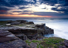 Before storm. Sunrise on East Coast of Australia, with incoming storm and cloudy sky Stock Photography